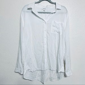 BeachLunchLounge White Button Up Shirt